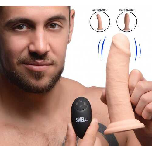 SWELL 7X INFLATABLE VIBRATING 7IN DILDO W/ REMOTE