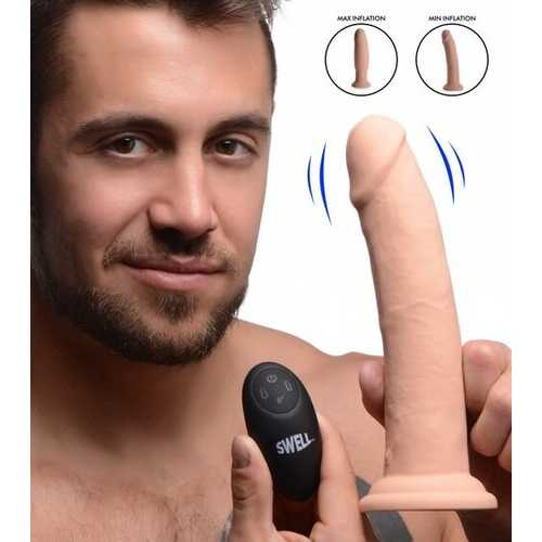 SWELL 7X INFLATABLE/VIBRATING 8.5IN DILDO W/ REMOTE