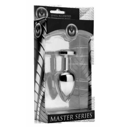 MASTER SERIES DIAMOND ACCENTED ANAL PLUG