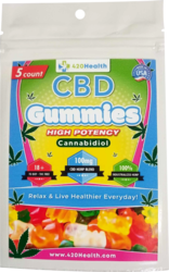 420 HEALTH CBD GUMMIES 5CT 100 MG