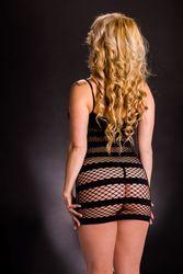 NAUGHTY GIRL TANK DRESS W/ HORIZONTAL STRIPES O/S (NET)