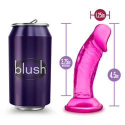 B YOURS SWEET N SMALL 4IN DILDO W/ SUCTION CUP PINK