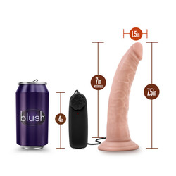 DR. SKIN DR. DAVE 7IN VIBRATING COCK W/ SUCTION CUP VANILLA