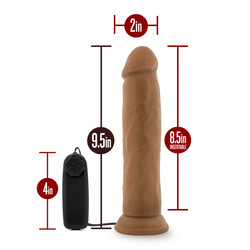 DR. SKIN DR. THROB 9.5IN MOCHA VIBRATING COCK W/ SUCTION CUP