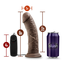 DR. SKIN DR. JOE 8IN VIBRATING COCK W/ SUCTION CUP CHOCOLATE