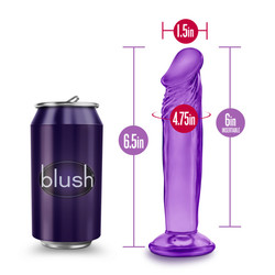B YOURS SWEET N SMALL 6IN DILDO W/ SUCTION CUP PURPLE