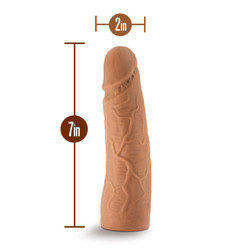 (WD) THE REALM REALISTIC 7 IN ON DILDO MOCHA