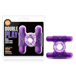 PLAY WITH ME DOUBLE PLAY DUAL VIBRATING COCKRING PURPLE