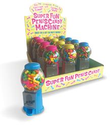 SUPER FUN PENIS CANDY MACHINE DISPLAY OF 12