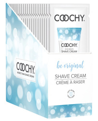 COOCHY SHAVE CREAM BE ORIGINAL FOIL 15ML 24PC DISPLAY (out mid June)