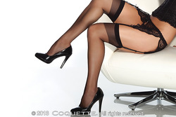 SHEER THIGH HIGH BLACK OS