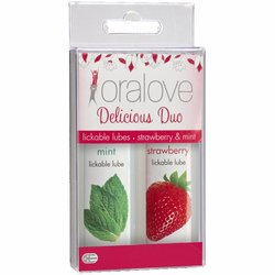 ORALOVE 2 PACK LUBE STRAWBERRY & MINT