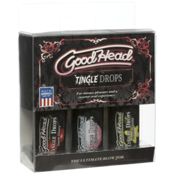 GOODHEAD TINGLE DROPS 3 PK 1 OZ FRENCH VANILLA SWEET CHERRY AND COTTON CANDY