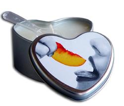 CANDLE 3-IN-1 HEART EDIBLE PEACH 4.7 OZ