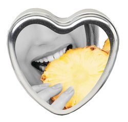 CANDLE 3-IN-1 HEART EDIBLE PINEAPPLE BREEZE 4.7 OZ