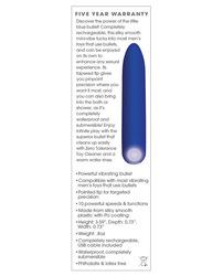 ZERO TOLERANCE BLUE RECHARGEABLE BULLET