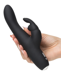 FIFTY SHADES OF GREY GREEDY GIRL RECHARGEABLE SLIMLINE RABBIT VIBRATOR