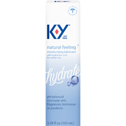 KY NATURAL FEELING LUBRICANT W/ HYALURONIC ACID 3.38OZ