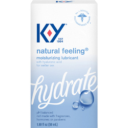 KY NATURAL FEELING LUBRICANT W/ HYALURONIC ACID 1.69OZ
