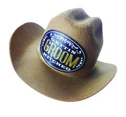 (WD) GROOM COWBOY HAT
