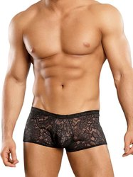 MINI SHORT STRETCH LACE BLACK LARGE