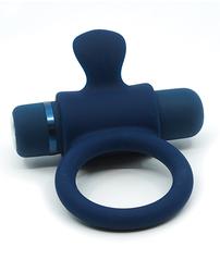 SENSUELLE SILICONE BULL RING NAVY BLUE