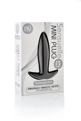 SENSUELLE MINI BUTT PLUG BLACK
