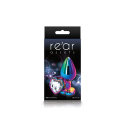 REAR ASSETS MULTICOLOR HEART MEDIUM CLEAR