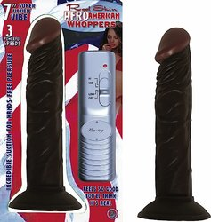 AFRO AMERICAN WHOPPER VIBRATING 7IN BROWN