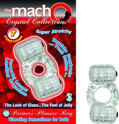 MACHO CRYSTAL COLLECTION PARTNERS PLEASURE RING CLEAR