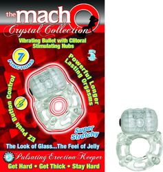 MACHO CRYSTAL COLLECTION PULSATING ERECTION KEEPER CLE