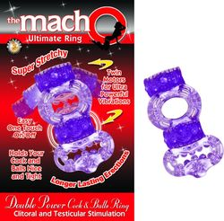 DOUBLE POWER COCK & BALLS RING
