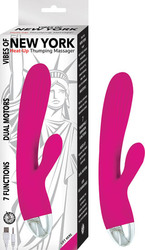 (WD) VIBES OF NEW YORK HEAT-UP THUMPING MASSAGER PINK