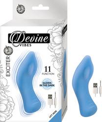 (WD) DEVINE VIBES EXCITER BLUE IN THE DARK CLITORAL TEASER