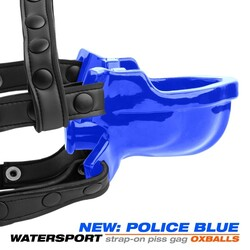 (WD) WATERSPORT STRAP-ON GAG POLICE BLUE (NET)