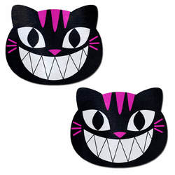 PASTEASE BLACK & PINK CHESHIRE KITTY CAT