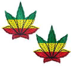 PASTEASE INDICA POT LEAF RASTA WEED NIPPLE PASTIES
