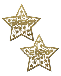 (WD) PASTEASE HAPPY NEW YEARS LIQUID GOLD & WHITE STARS