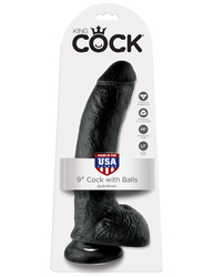 KING COCK 9 IN COCK W/BALLS BLACK