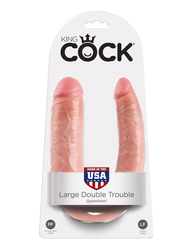 KING COCK DOUBLE TROUBLE LARGE FLESH