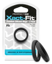 PERFECT FIT XACT-FIT #10 2 PK BLACK