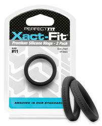 PERFECT FIT XACT-FIT #11 2 PK BLACK