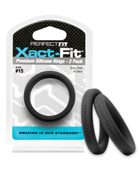 PERFECT FIT XACT-FIT #15 2 PK BLACK