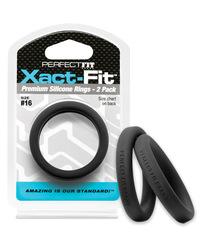 PERFECT FIT XACT-FIT #16 2 PK BLACK