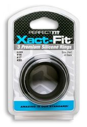 XACT FIT SILICONE RINGS #14 #17 #20 BLACK(out end Oct)