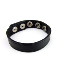 RING LEATHER 5 SNAPS BLACK