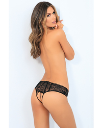 ALL TIED UP OPEN BACK PANTY BLACK S/M(OUT MID SEP)