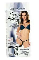 LOVERS THONG W/STROKER BEADS