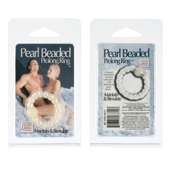PEARL BEAD PROLONG RING WHITE