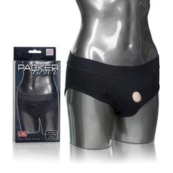 PACKER GEAR BLACK BRIEF HARNESS L/XL